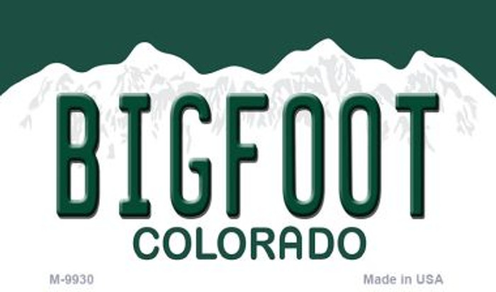 Bigfoot Colorado State Magnet Novelty Wholesale