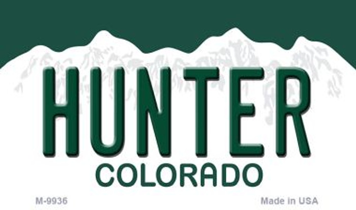 Hunter Colorado State Background Magnet Novelty Wholesale