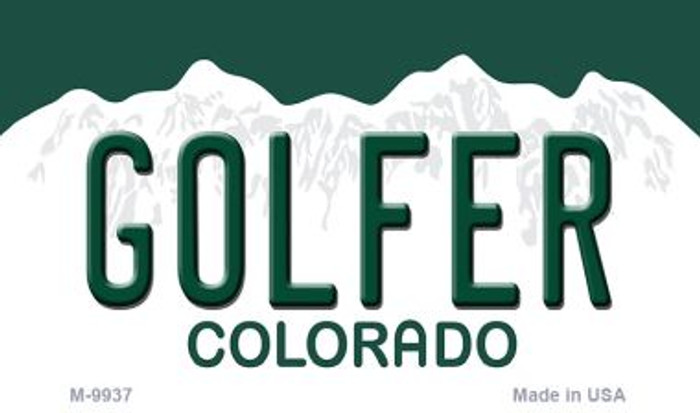 Golfer Colorado State Background Magnet Novelty Wholesale