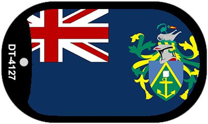 """Pitcairn Islands Flag Country Flag Dog Tag Kit 2"""" Wholesale Metal Novelty Necklace"""