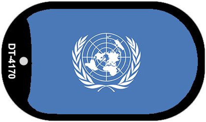 "United Nations Flag Country Flag Dog Tag Kit 2"" Wholesale Metal Novelty Necklace"