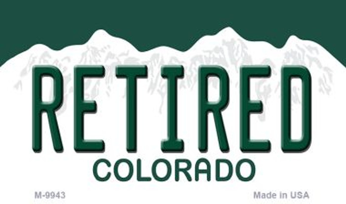 Retired Colorado State Background Magnet Novelty Wholesale