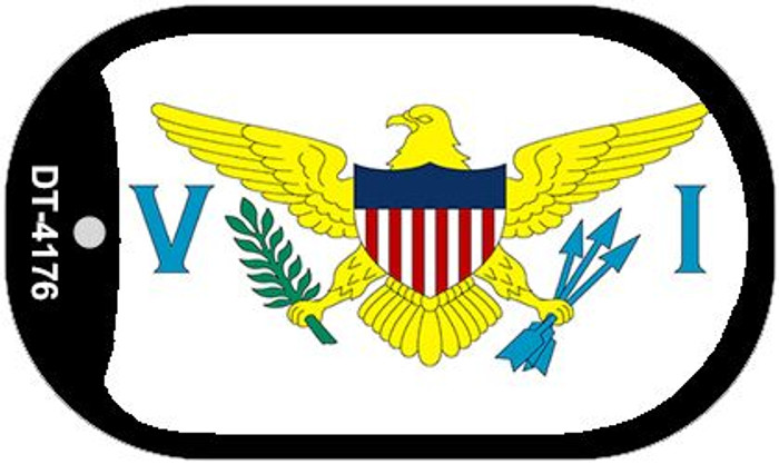 "Virgin Islands US Flag Country Flag Dog Tag Kit 2"" Wholesale Metal Novelty Necklace"
