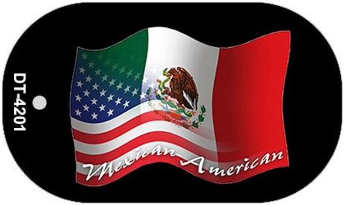 "Mexican American Flag Country Flag Dog Tag Kit 2"" Wholesale Metal Novelty Necklace"