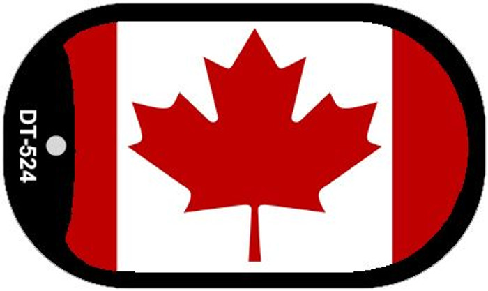 "Canada Flag Country Flag Dog Tag Kit 2"" Wholesale Metal Novelty Necklace"