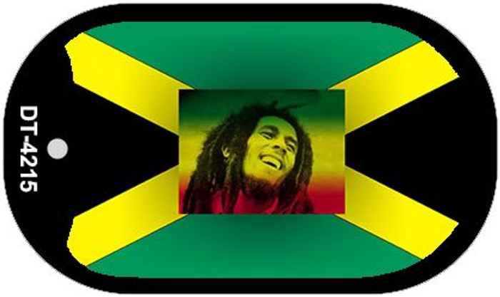 "Jamaica Bob Marley Flag Country Flag Dog Tag Kit 2"" Wholesale Metal Novelty Necklace"