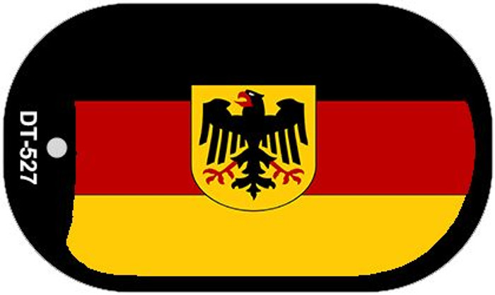 "Germany Flag Country Flag Dog Tag Kit 2"" Wholesale Metal Novelty Necklace"