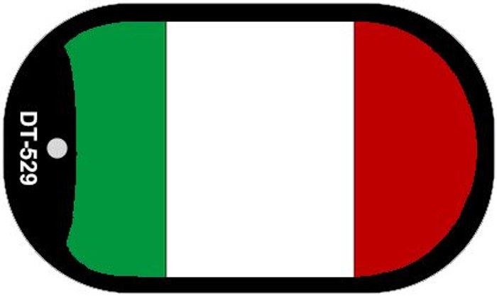 "Italy Flag Country Flag Dog Tag Kit 2"" Wholesale Metal Novelty Necklace"