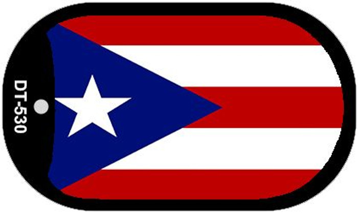"""Puerto Rico Flag Country Flag Dog Tag Kit 2"""" Wholesale Metal Novelty Necklace"""