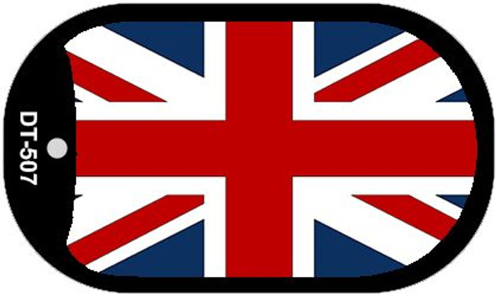 """Britain Flag Country Flag Dog Tag Kit 2"""" Wholesale Metal Novelty Necklace"""