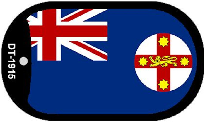 """New South Wales Flag Country Flag Dog Tag Kit 2"""" Wholesale Metal Novelty Necklace"""