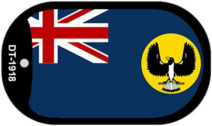 """South Australia Flag Country Flag Dog Tag Kit 2"""" Wholesale Metal Novelty Necklace"""