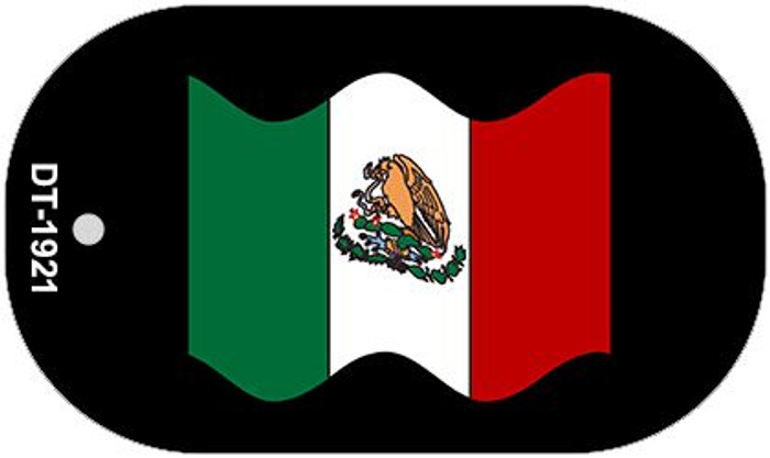 """Mexico Waving Flag Country Flag Dog Tag Kit 2"""" Wholesale Metal Novelty Necklace"""