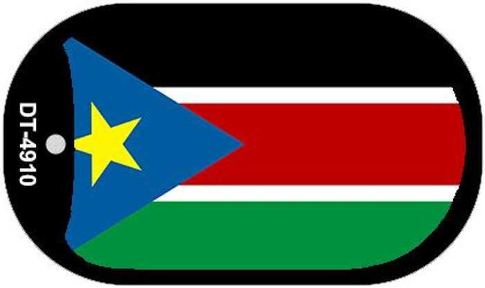 """South Sudan Flag Country Flag Dog Tag Kit 2"""" Wholesale Metal Novelty Necklace"""