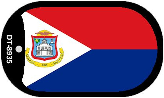 """Sint Maarten Flag Country Flag Dog Tag Kit 2"""" Wholesale Metal Novelty Necklace"""