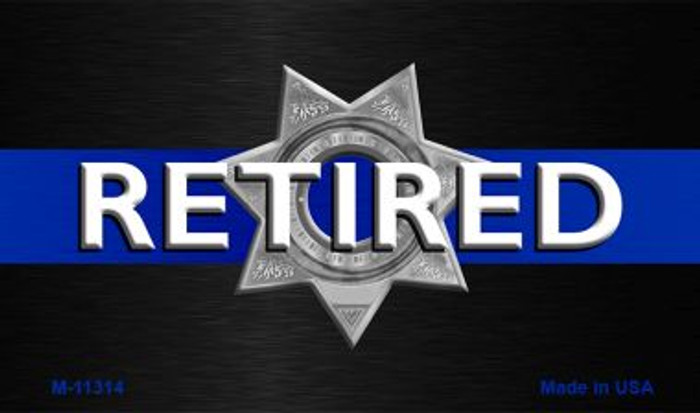 Thin Blue Line Retired Police Wholesale Novelty Metal Magnet