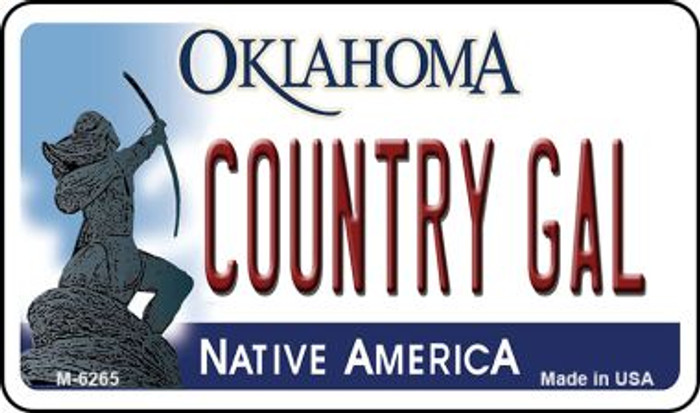 Country Gal Oklahoma Wholesale Novelty Metal Magnet