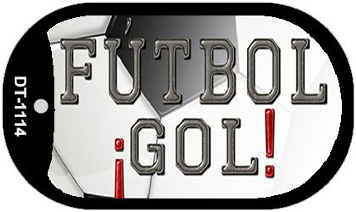 "Futbol Gol Dog Tag Kit 2"" Wholesale Metal Novelty Necklace"