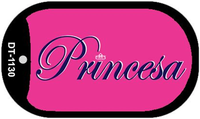 "Princesa Dog Tag Kit 2"" Wholesale Metal Novelty Necklace"