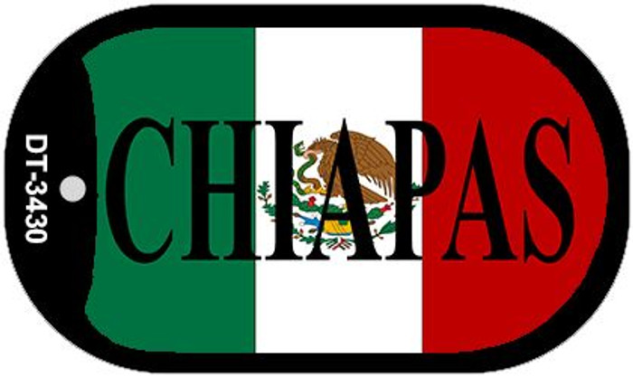 "Chiapas Dog Tag Kit 2"" Wholesale Metal Novelty Necklace"