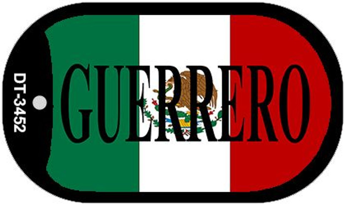 "Guerrero Dog Tag Kit 2"" Wholesale Metal Novelty Necklace"