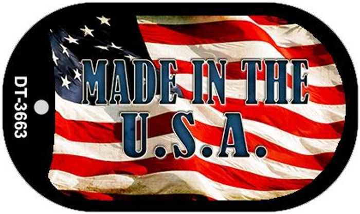 """Made in the USA Dog Tag Kit 2"""" Wholesale Metal Novelty Necklace"""