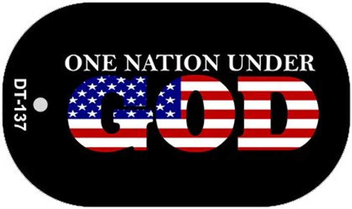 "One Nation Under God Dog Tag Kit 2"" Wholesale Metal Novelty Necklace"