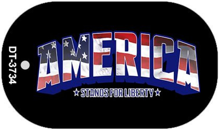 "America Dog Tag Kit 2"" Wholesale Metal Novelty Necklace"