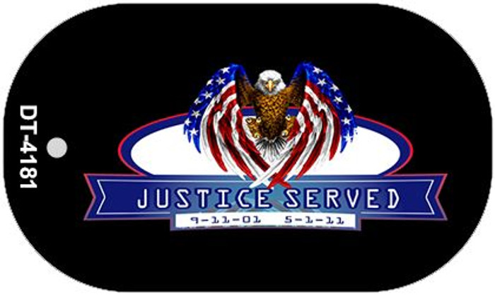 "Justice Served Dog Tag Kit 2"" Wholesale Metal Novelty Necklace"