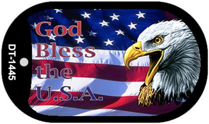 "God Bless The USA Dog Tag Kit 2"" Wholesale Metal Novelty Necklace"