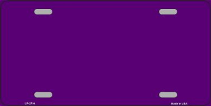 Purple Solid Background Wholesale Metal Novelty License Plate