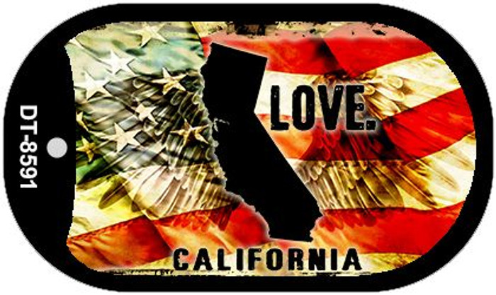 California Love Wholesale Metal Novelty Dog Tag Necklace DT-8591