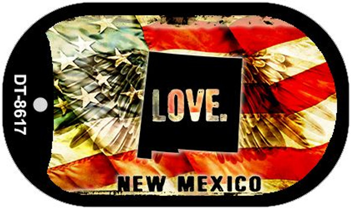 "New Mexico Love Flag Dog Tag Kit 2"" Wholesale Metal Novelty Necklace"