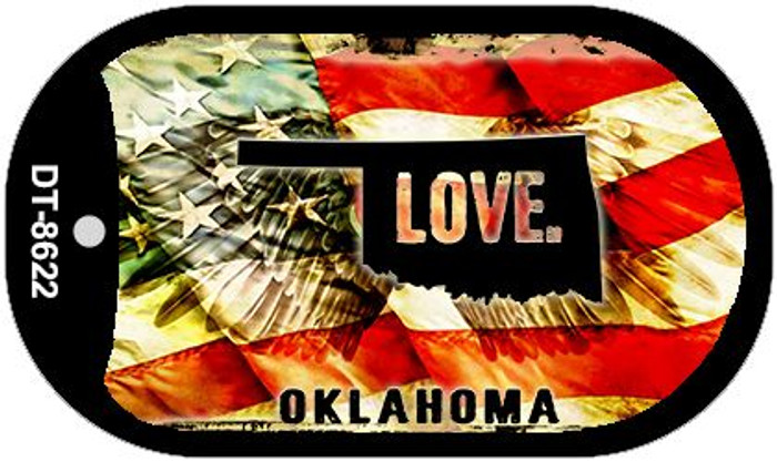 Oklahoma Love Wholesale Metal Novelty Dog Tag Necklace DT-8622