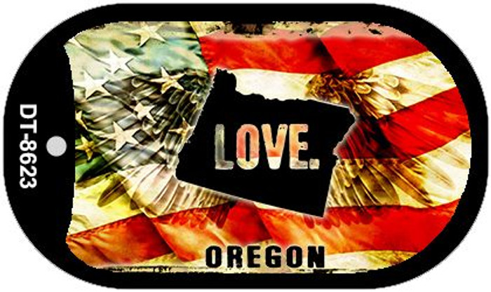 Oregon Love Wholesale Metal Novelty Dog Tag Necklace DT-8623