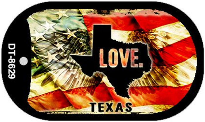 Texas Love Wholesale Metal Novelty Dog Tag Necklace DT-8629
