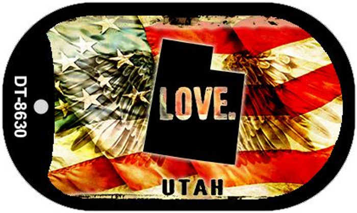 Utah Love Wholesale Metal Novelty Dog Tag Necklace DT-8630