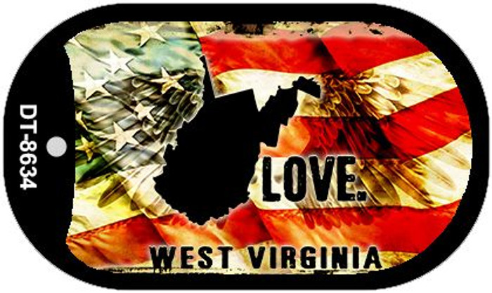 West Virginia Love Wholesale Metal Novelty Dog Tag Necklace DT-8634
