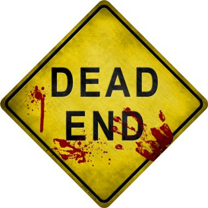 Dead End Bloody Novelty Metal Crossing Sign Wholesale