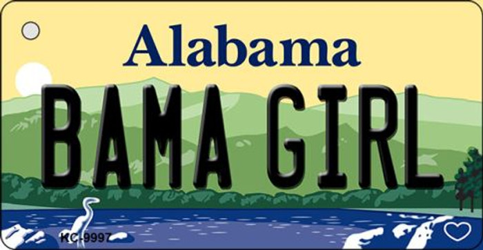 Bama Girl Alabama Background Key Chain Metal Novelty Wholesale