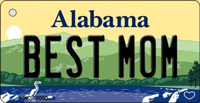 Best Mom Alabama Background Key Chain Metal Novelty Wholesale