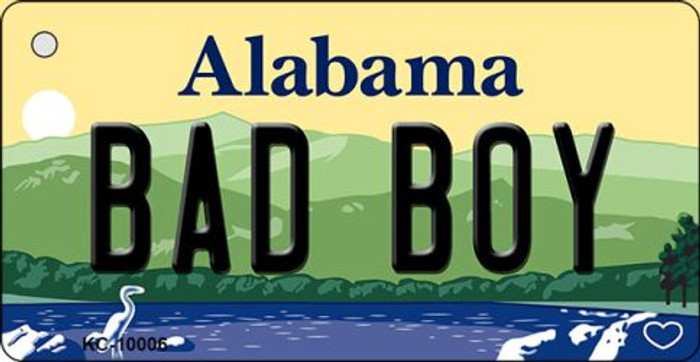 Bad Boy Alabama Background Key Chain Metal Novelty Wholesale