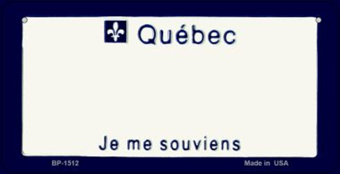 Quebec State Background Novelty Wholesale Bicycle License Plate