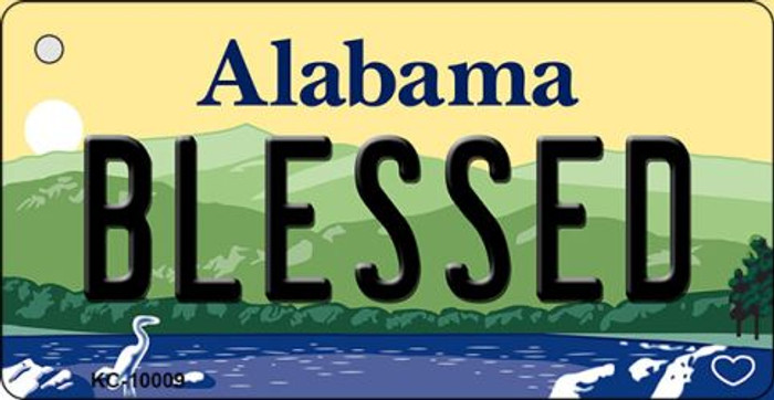 Blessed Alabama Key Chain Metal Novelty Wholesale KC-10009