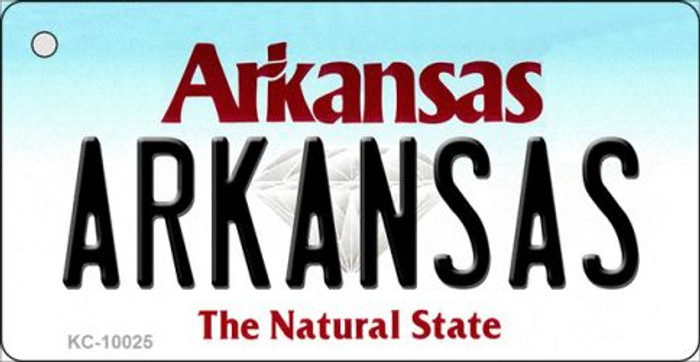 Arkansas Background Key Chain Metal Novelty Wholesale