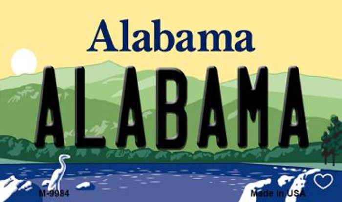 Alabama Alabama State Background Magnet Novelty Wholesale