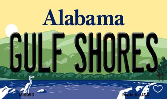 Gulf Shores Alabama State Background Magnet Novelty Wholesale