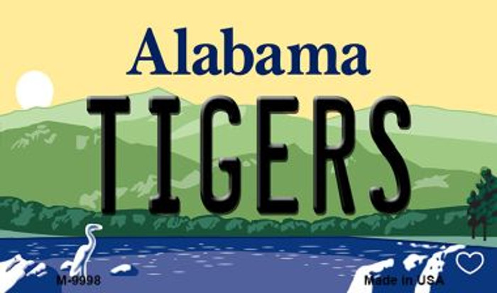 Tigers Alabama State Background Magnet Novelty Wholesale