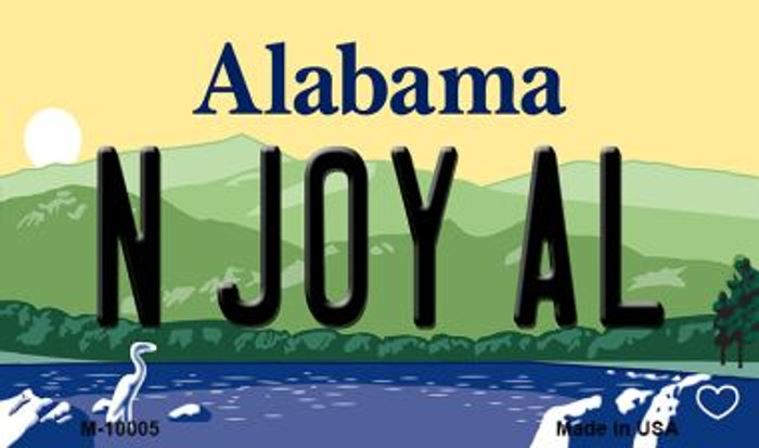 N Joy AL Alabama State Background Magnet Novelty Wholesale