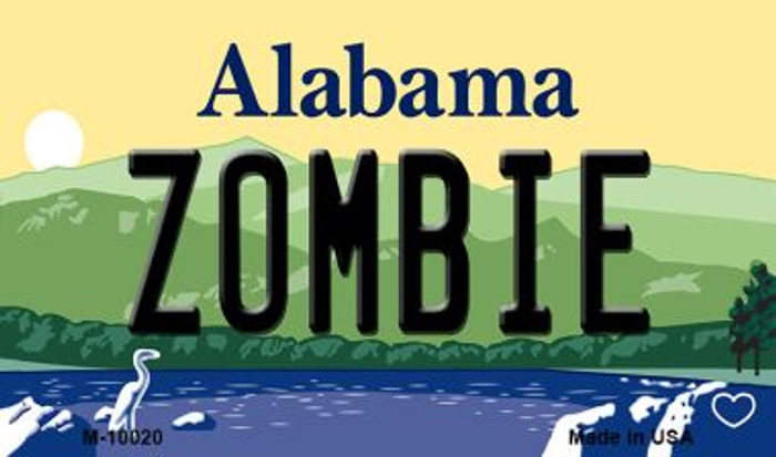 Zombie Alabama State Background Magnet Novelty Wholesale